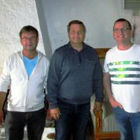 Bernhard Grum mit Herbert Lorenz und Roland Hammerlindl